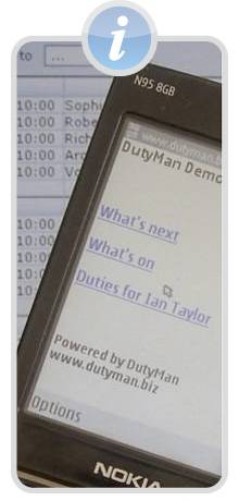 DutyMan mobile phone application